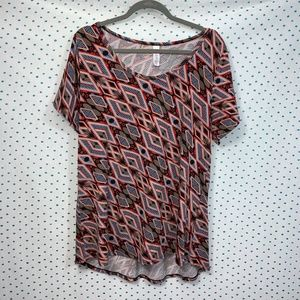 LulaRoe Classic T Multi-Color Abstract T-Shirt